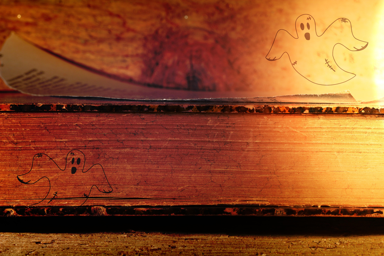 Gespenster und Buch. Quelle: Pixabay/Pezibear. CCO.