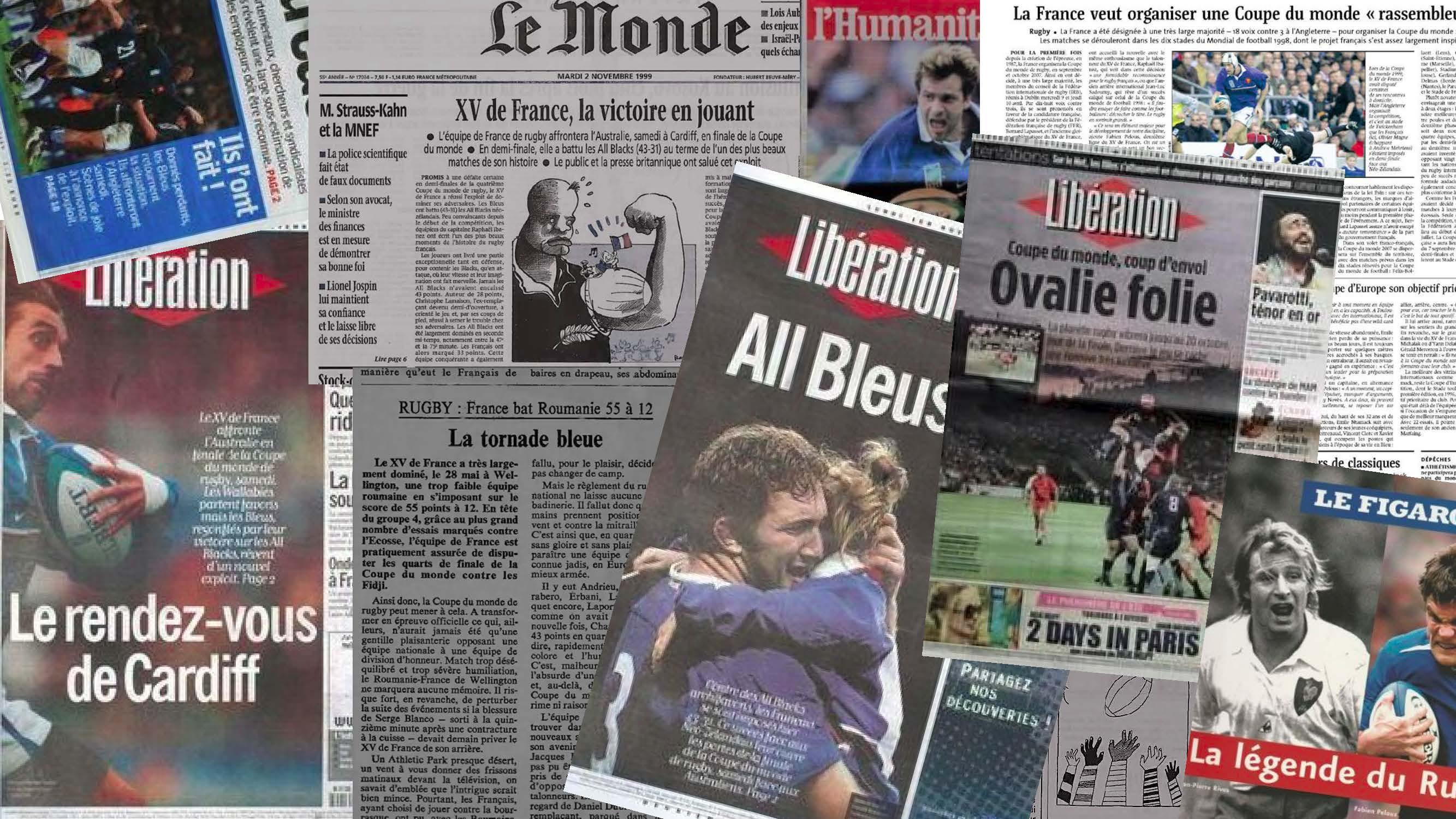 Rugby in der französischen Tagespresse (Montage)