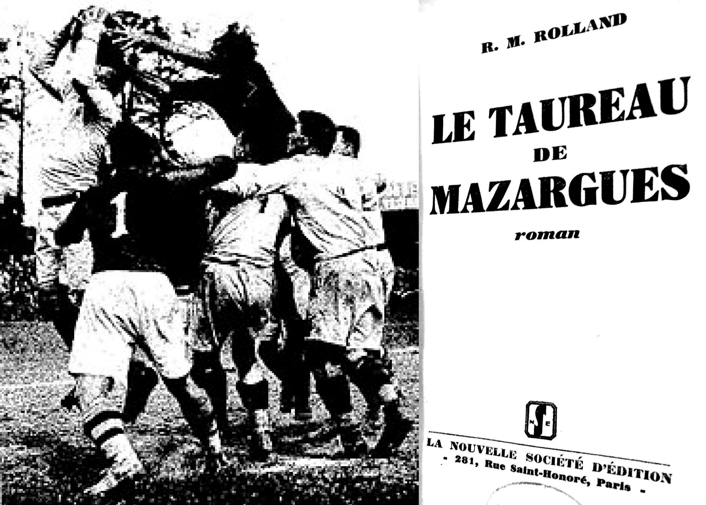 Finale der französischen Meisterschaft 1931 (Quelle: Match l'intran, 12.05.31/Wiki Commons) und Titelseite R.M. Rollands Buch (Montage)