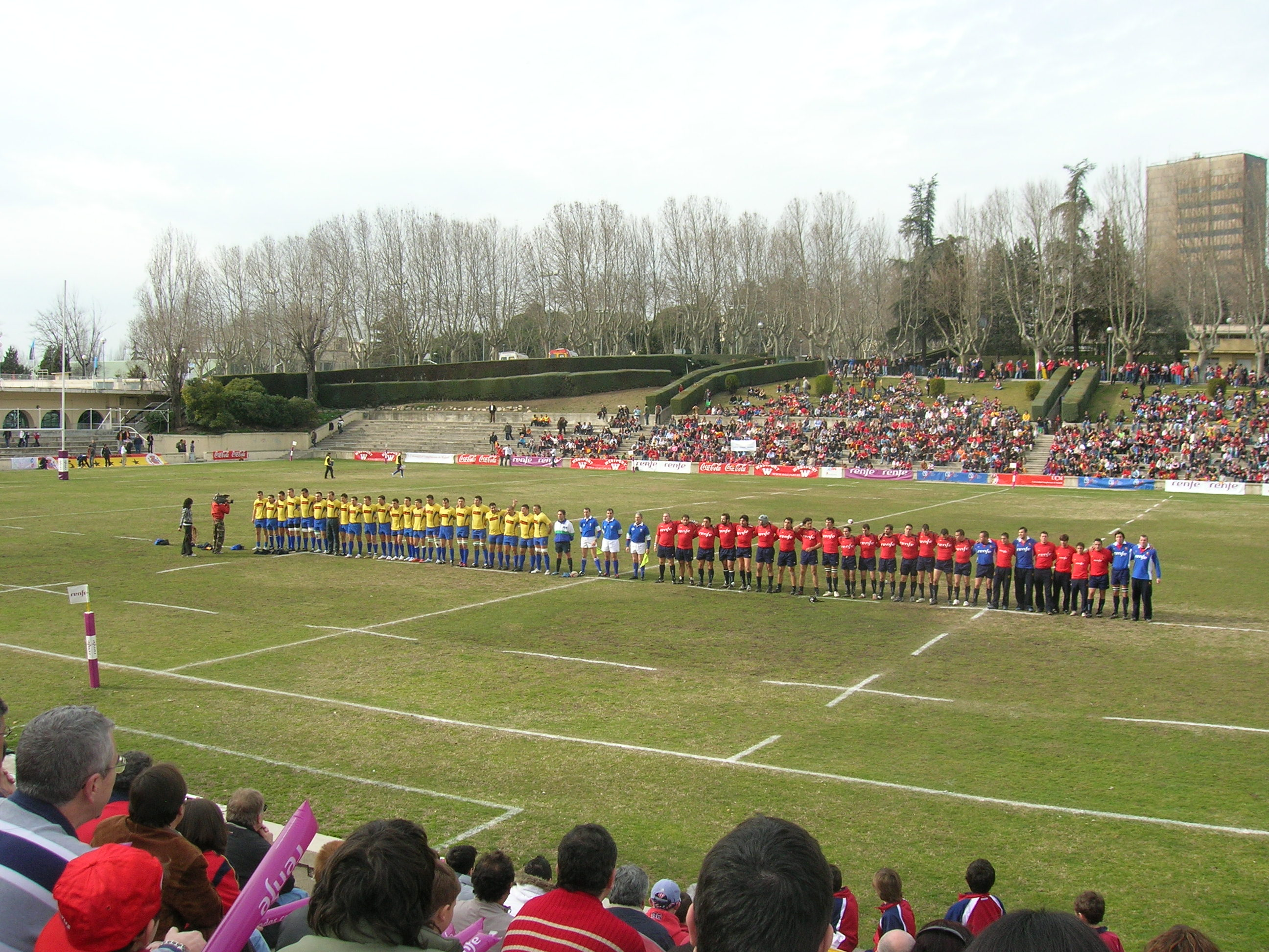 Estadio Nacional Complutense: Spanien-Rumänien (Six Nations B, 2008) (Wikimedia Commons/David-maldini CC)