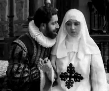 Don Juan Tenorio und Doña Inés in der bekannten Sofa-Szene (Quelle: WikimediaCommons/ Tenorio, 1922)