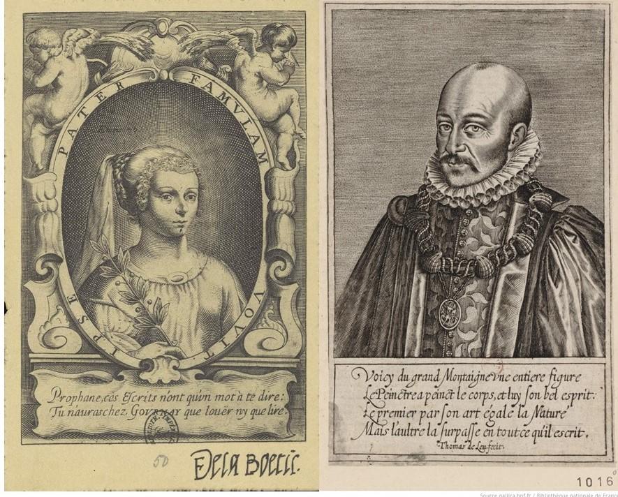 Marie de Jars de Gournay (1565-1645), Michel Eyquem de Montaigne (1533-1592) (http://bibliotheque.bordeaux.fr / Bibliothèque municipale de Bordeaux, gallica.bnf.fr / Bibliothèque nationale de France