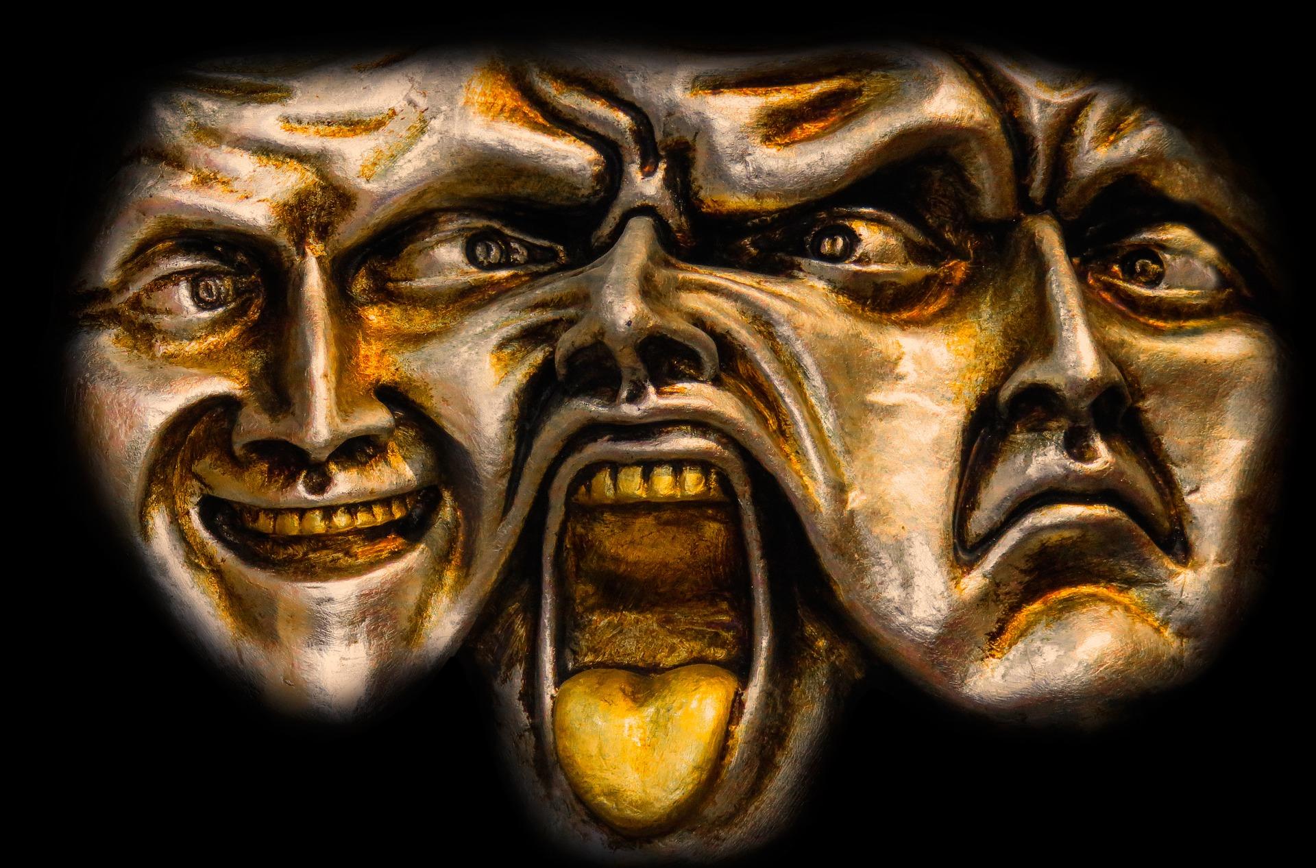 Drei Gesichter (Quelle: Pixabay/ Gellinger)