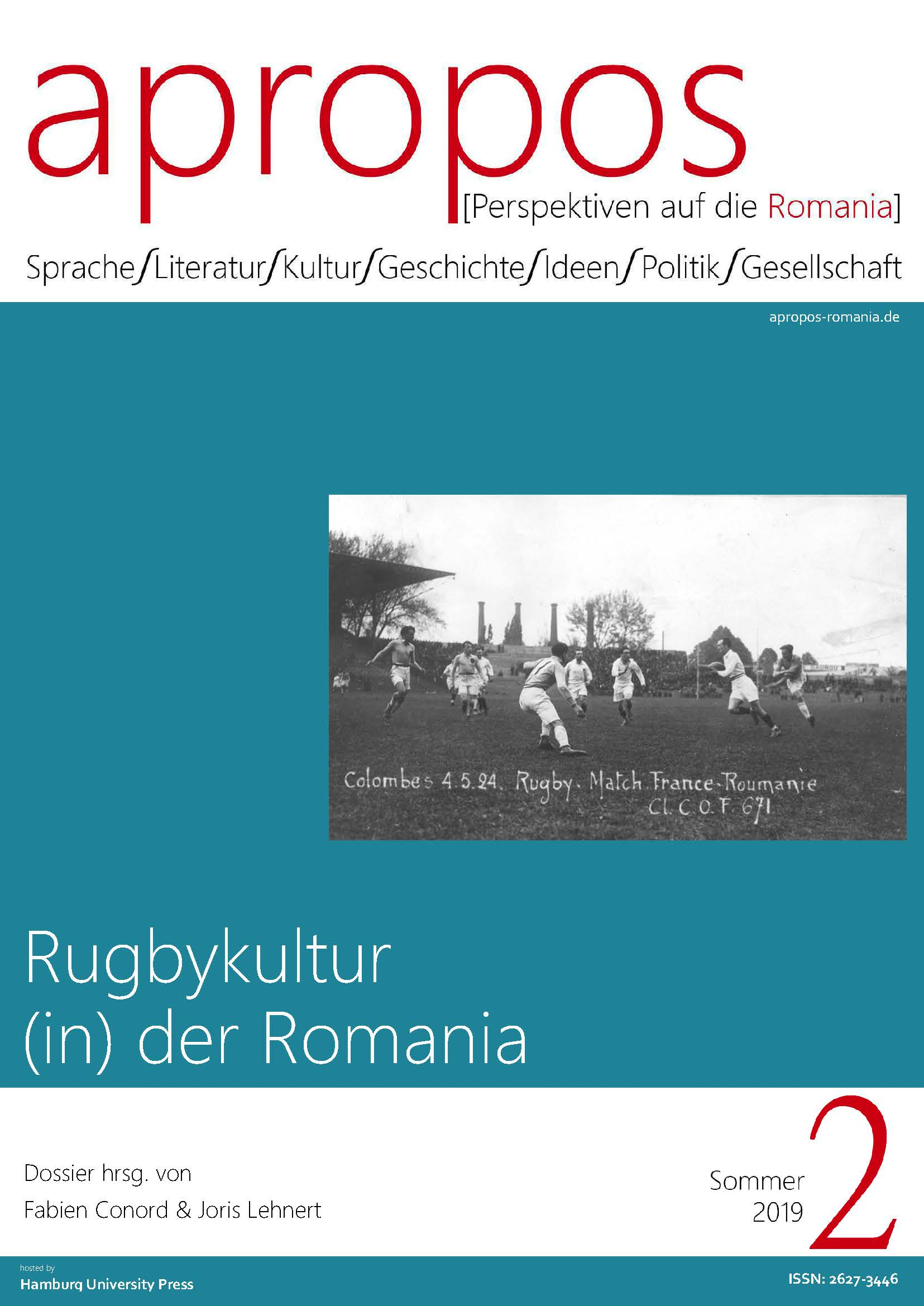 View Nr. 2 (2019): Rugbykultur (in) der Romania